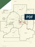 Twin Cities Metropolitan Area population distribution of minorities, 1980