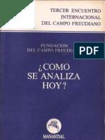 Cómo Se Analiza Hoy [Fundación Del Campo Freudiano]