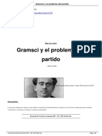 Douet, Yohann. Gramsci y El Problema Del Partido