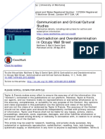 Matthew S. May and Daniel Synk's 2013 article, 'Contradiction and Overdetermination in Occupy Wall Street'.