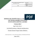 281152852 Sistema de Gestion Para La Vigilancia de Los Trabajadores Expuestos Ocupacionalmente Al Ruido Golle Spa
