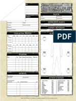 Original Character Sheet