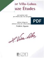 Hector Villalobos - 12 Estudios Editado y Corregido Por Frederic Zigante Edicion Eschig