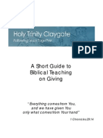 Biblical Principles of Giving