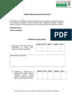 Formato para la Evaluación de Artículos