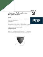 Aplicações Da Integral Dupla