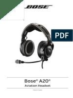 BOSE A20 Pilot's Guide