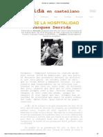 Derrida en Castellano - Sobre La Hospitalidad