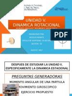 Dinamica Rotacional Fisica i. UNIDAD V Iuts. Nicolas Infante