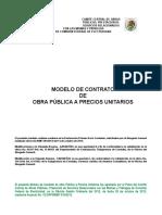 Modelo Contrato de Obra Pública y Ajuste Costo