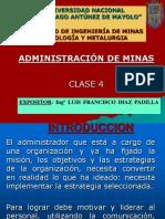 Clase 4 Administración de Minas