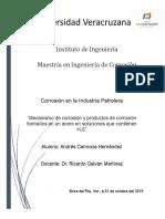 Mecanismo y Productos de Corrosion Del Acero en H2S