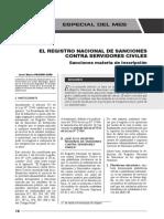 Registro Nacional de Sanciones Contra Servidores Civiles - Autor José María Pacori Cari