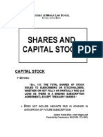 Acetates on Shares and Capital Stock