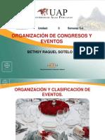 Unidad II Organizacion y Clasificacion de Congresos y Eventos