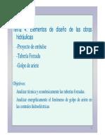 Tema 4- Elementos de Diseño de Las Obras Hidráulicas.