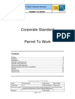 Permit to Work Corporate Standard