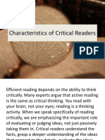 Characteristics of Critical Readers