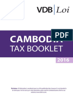 Cambodia Tax Booklet January 2016