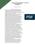 Carta Confidencial de Don Mariano Alvarez Al Contraalmirante