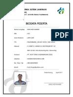 Form Biodata Peserta Sosialisasi Sjsn (Mulyadi Hamid)