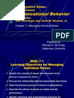 OB 57 Chapter_07 Managing Individual Stress