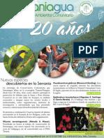 Boletín formativo SERRANIAGUA 20 años, No. 28, 2016