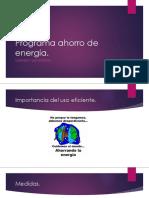 Programa Ahorro de Energía Presentacion