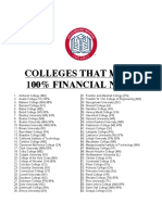 colleges that meet 100