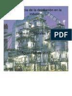 Importancia de La Destilación en La Industria quimica