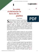 La Jornada_ Ante La Crisis Civilizatoria_ La Hora de Los Pueblos