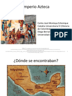 Unidad 2 Aportes de los Aztecas a la humanidad - Carlos José Montoya