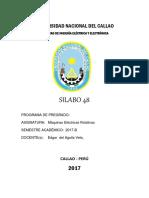 Caratula Silabo Maquinas Electricas Rotativaspregrado Unac