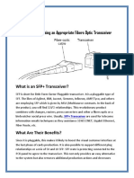 Guidelines for Choosing a Appropriate Fibers Optic Transceiver