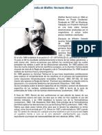 Biografía Walther Nernst