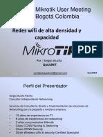 Redes WIFI de Alta Capacidad y Densidad