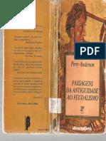 ANDERSON Perry Passagens Da Antiguidade Ao Feudalismo Full