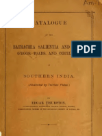 (1888) Catalogue of the Batrachia Salientia and Apoda of Southern India (Frogs & Toads)