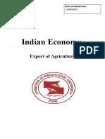 Export of Crops