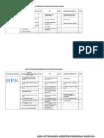 Chek List Dokumen Akreditasi