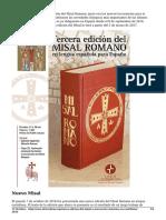 Nueva Edicion Del Misal y Nuevos Leccionarios en Castellano