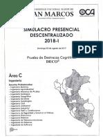 Simulacro Presencial - San Marcos 2018-I Area C
