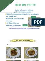 Halal foods at Tokyo Institute of Technology restaurants