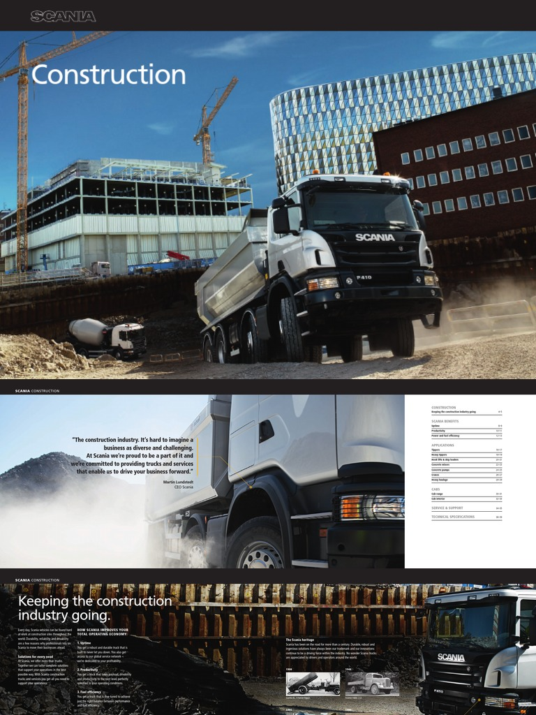 brochure-scania-construction pdf | Off Roading | Truck