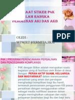 Manfaat Stiker p4k Dalam Rangka Penurunan Aki Dan