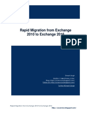Migrating Guide from Exchange 2010 to Exchange 2016 pdf