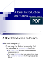 A Brief Introduction on Pumps (Mechanical Aspect)