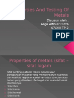 Properties and Testing of Metals