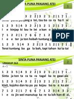 Ungkup 262 - Sinta Puna Panjang Atei