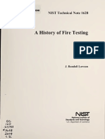 A History of Fire Testing